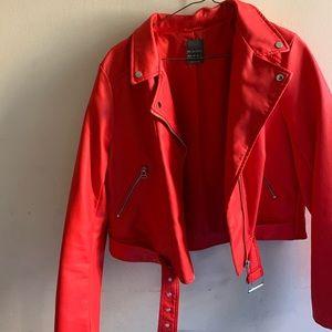 Jackets & Blazers - Orange leather